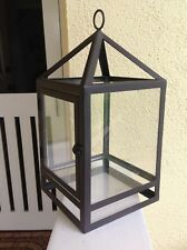 Pottery Barn Style Candle LANTERN Rubbed Bronze