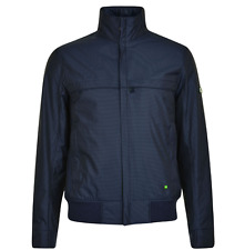 BNWT Mens Hugo Boss Green Sports Outdoor Jacket Navy 46 S RRP £280 (Jadon 19)