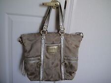 Coach Poppy Large Signature Tote Bag ~ Gold and Cream, Style No K0969-13847