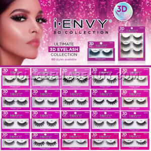 i Envy Kiss 3D Lash Collection Volume Lightweight False Eyelashes Makeup *1Pair