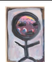 "Original Merle Rosen Painting, untitled, 10.5"" X 15.5"""