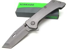 SCHRADE Titanium 9CR18MOV Straight TANTO Folding FRAMELOCK Pocket Knife! SCH301