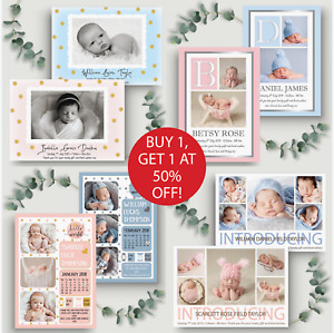 10 x Personalised Baby Thank You Cards • Birthday Thank You Cards • Christening