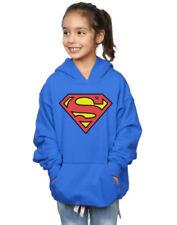 Felpe con cappuccio blu per bambine dai 2 ai 16 anni logo