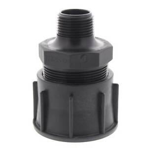 IBC Water Tank to 25mm Hose Nipple Adaptor Fittings Convert Irrigation Plumbing