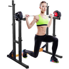 Vivo réglable Squat Rack & Dip stand Barbell/Poids Gym Bench Power/levage