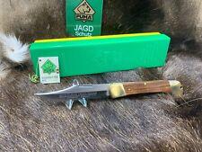 1982 Puma 975 Trail Boss Knife With Jacaranda Handles Green / Yellow Box Mint