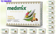 12 BARS! Medimix 125gm Ayurvedic Turmeric & Argan Oil Soap USA SELLER FAST SHIP
