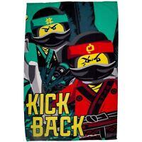 LEGO NINJAGO MOVIE FLEECE BLANKET KICK BACK KIDS BOYS