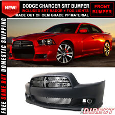 For 11-14 Dodge Charger SRT8 Style Front Bumper Cover Conversion PP Black