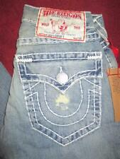 NWT TRUE RELIGION Joey Super T Light Wash AUTHENTIC BOOT CUT Jeans...size 28X34