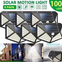 100 LED Solar PIR Motion Sensor Wall Light Outdoor Waterproof Garden Yard Lamp