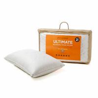 MiniJumbuk 2- Pack Ultimate Reversible Wool Pillow Low/Medium 100% Australian...