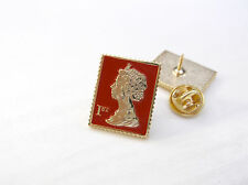 1ST CLASS STAMP SOLID 3D ENAMEL 'RED STAMP' LAPEL PIN BADGE TIE TACK PIN GIFT