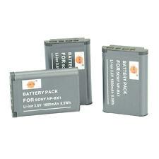 DSTE 3x NP-BX1 BX1 Li-on Battery Pack for Sony SONY DSC- RX100 DSC-RX1 DSC-RM2