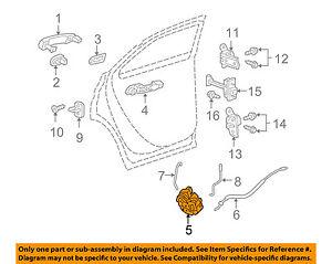 GM OEM Rear Door-Lock Actuator Motor 13579551
