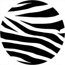 Zebra stripe Spare Tire Cover Fits jeep, rv, camper, trailer, backup camera cut
