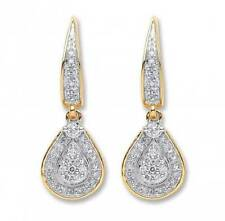 Very Good Cut Yellow Gold SI1 Fine Diamond Earrings