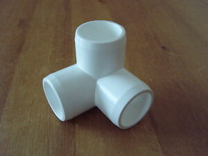 Furniture grade PVC 3 way 26.7mm 3/4 inch fitting f26.7mm O/D pipe pack of 4