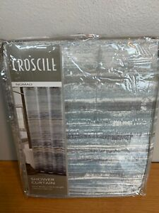 Croscill Nomad Print Shower Curtian 72x72 inch New 100% Polyester Machine Wash