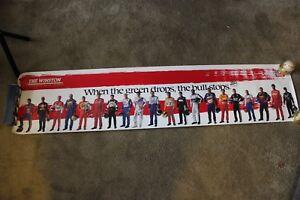 "1997 The Winston No Bull Nascar Poster 16"" x 72"" Charlotte Motor Speedway"