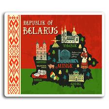 2 x 10cm Belarus Minsk Europe Fun Vinyl Stickers - Sticker Laptop Luggage #19424