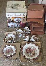 Johnson Bros Autumn Monarch 16 Pc Set turkey Dinnerware Set EXC in Box