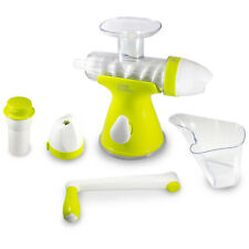 Juice Buddy 2 in 1 Manual At Home Easy Clean Ice Cream Maker and Juicer, Green