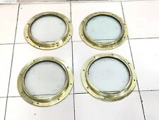 OLD VINTAGE NAUTICAL MARINE SHIP BRASS ANTIQUE PORTHOLE/WINDOW LOT OF 4