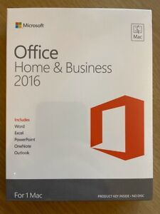 Microsoft Office Home & Business 2016 For Mac - Code in Box - New/Unopened