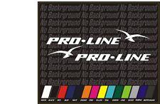 "2 PRO-LINE PROLINE 52"" BOAT TRUCK DECALS Marine Vinyl replacement pair"