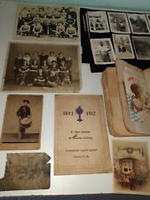 antique Personal Diary scrapbooks postcards and miscellaneous papers