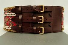 Alexander Mcqueen Ruway Beaded Leather Wide Waist Belt -SZ75 -RRP1990GBP