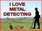 I LOVE METAL DETECTING KEYRING -DETECTOR KEYRING, GREAT GIFT. IMAGE SIZE 5 x 3.5
