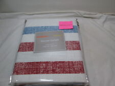 "Richloom Home Fashions CAYUGA Shower Curtain 72""x72"" ~ Red, White, Blue Stripe"