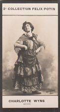 CHARLOTTE WYNS  Amica ACTRICE  Charlotte Félicie mezzo-soprano  CARD IMAGE 1907