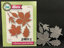 Large Leaves Metal Die Cut Stencil Impression Obsession dies oak maple leaf