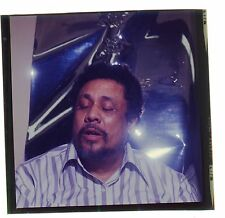 1971 CHARLES MINGUS JAZZ COLOR NEGATIVE 2 1/4 x 2 1/4 INCHES BASSIST FANTASTIC