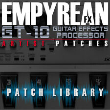 Boss GT-10 ARTIST Patches Guitar Effects Settings Presets FREE FAST SHIPPIN