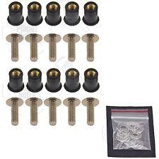 10 Titanium Windscreen Fairing Bolts Wellnuts 5mm Suzuki GSXR 600 750 1000 1300