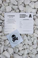 Aktion 10x 1 1/2h Totenkopf Abzeichen  + Urkunde, Schwimmabzeichen