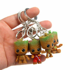4pcs Baby Groot Guardians of the Galaxy Key Chain Figures Keyring Pendant Gift