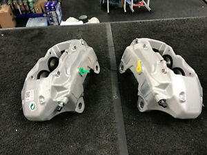 VW TOUAREG ALTITUDE V6 3.0TDi 2 FRONT BRAKE CALIPERS LH RH PAIR 4 PISTON BREMBO