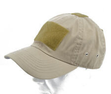 "Cappello / Cap ""Tactical"" Khaki with VELCRO® brand hook"