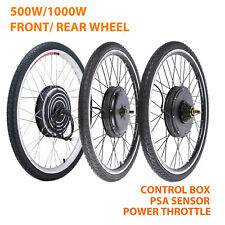 "500W/1000W 26"" Electric Bicycle Motor Conversion Kit Front/Rear Wheel E Bike PAS"