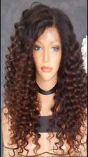 """18"""" Virgin Brazilian Human Hair Ombre Lace Front Wig, 150% Density"""