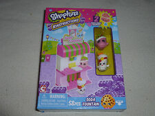 NEW IN BOX SHOPKINS KINSTRUCTIONS SODA FOUNTAIN 2 BUILDABLE FIGURES 58 PCS NIB