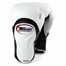 Twins BGVL6 Deluxe Sparring Gloves White Black Boxing Kickboxing Muay Thai