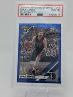 2019 Luka Doncic #16 Panini Donruss Optic Blue Velocity Gem Mint PSA 10