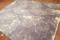 8' x 10' Modern 100% Wool Oriental Area rug 8x10 ft Gray